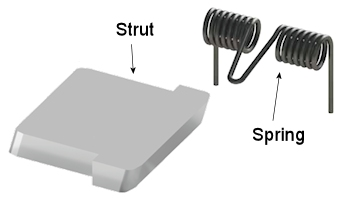 Mechanical Diode Strut & Spring