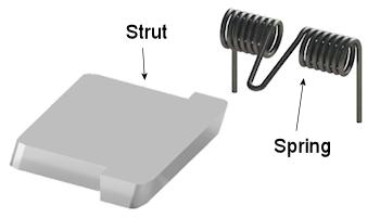 Mechanical Diode Strut & Spring