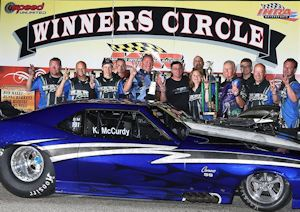 Kevin McCurdy Northeast Outlaw Pro Mod Association Winner at MIR